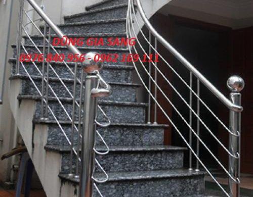 cầu thang inox tay vịn inox 02